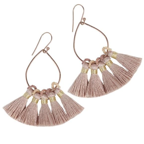 923c7d094a03ce Bluma Project Jewelry | Light Pink Tassel Earrings | Poshmark